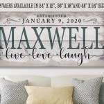 Large Canvas Wall Art Not Printed On Wood Perfect Above Couch And Home Decor Makes A Great Housewarming Gift Under 50 Personalized Stretched On A Wood Frame Family Name Handmade Products Artwork