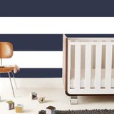 Wide Stripe Wallpaper Tiles in Navy - Wallpaper Tiles/Navy