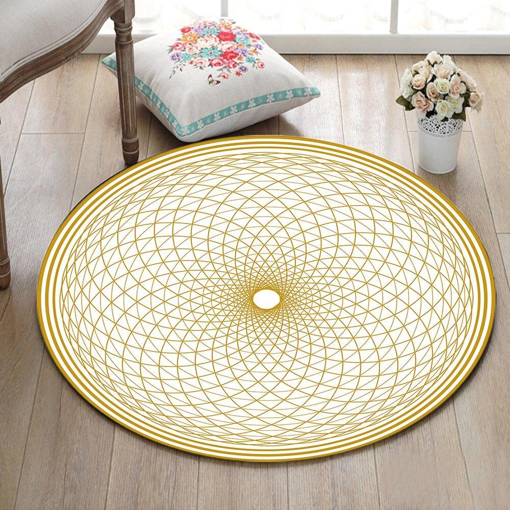 petit tapis rond beige