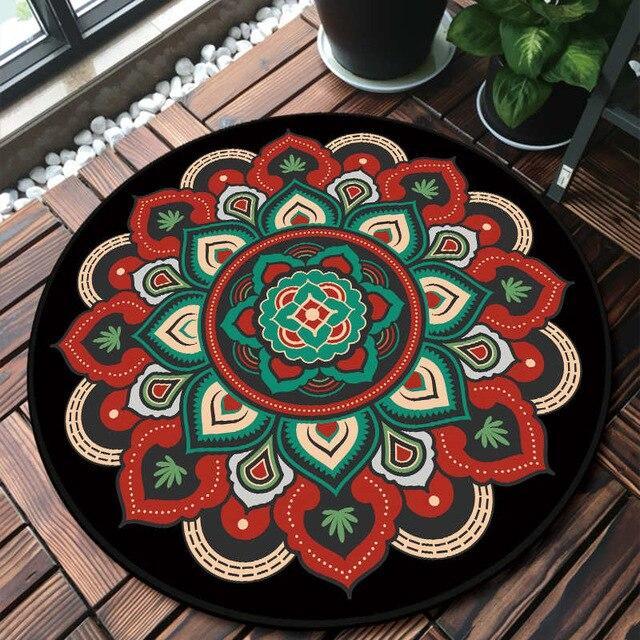 تطبيع غريب أرض tapis rond rouge pas cher