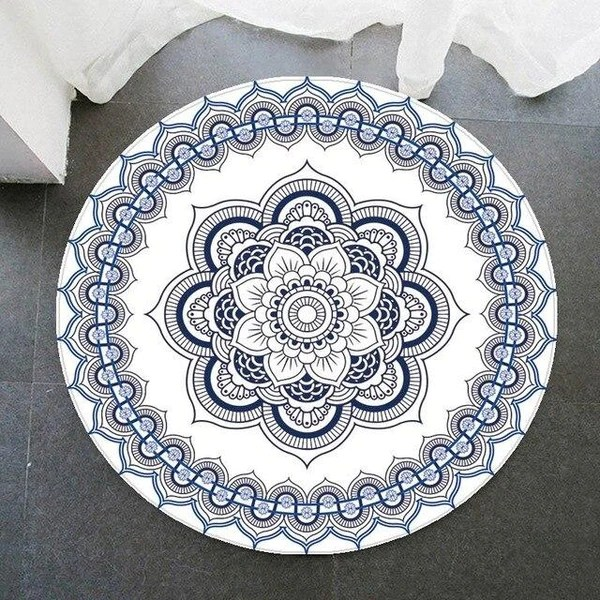 tapis rond vinyl mandala