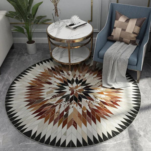 tapis rond style scandinave