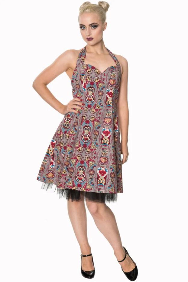 Dynasty Halterneck Dress by Banned Apparel