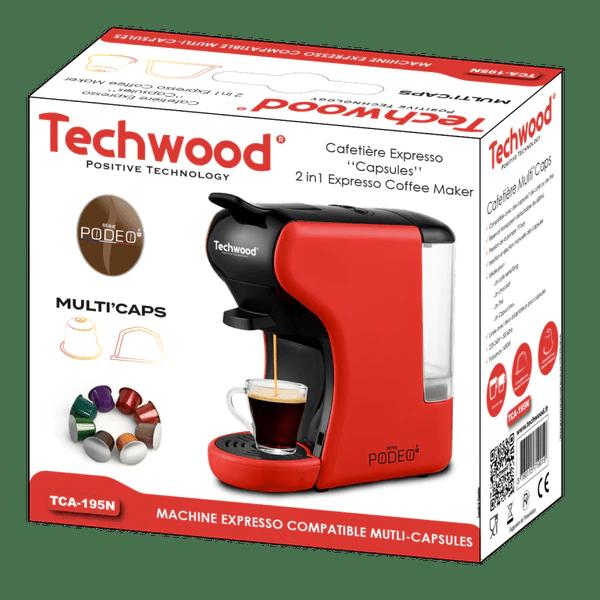 machine a cafe expresso nespresso multi caps rouge tca 195n