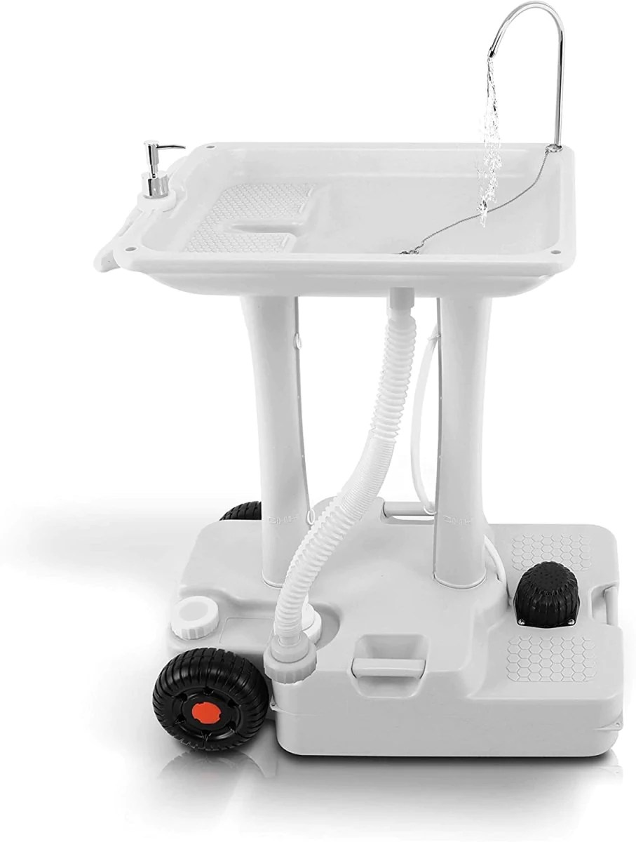 tidobit outdoor portable sink portable hand wash stations portable hand wash sink with 6 3gal recovery water tank