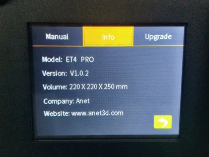 Firmware of ET4 Pro