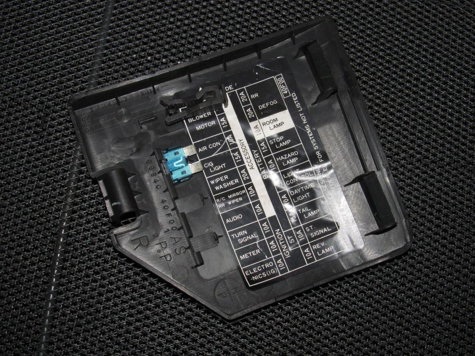 89 90 91 92 93 94 Nissan 240SX OEM Interior Fuse Box Cover