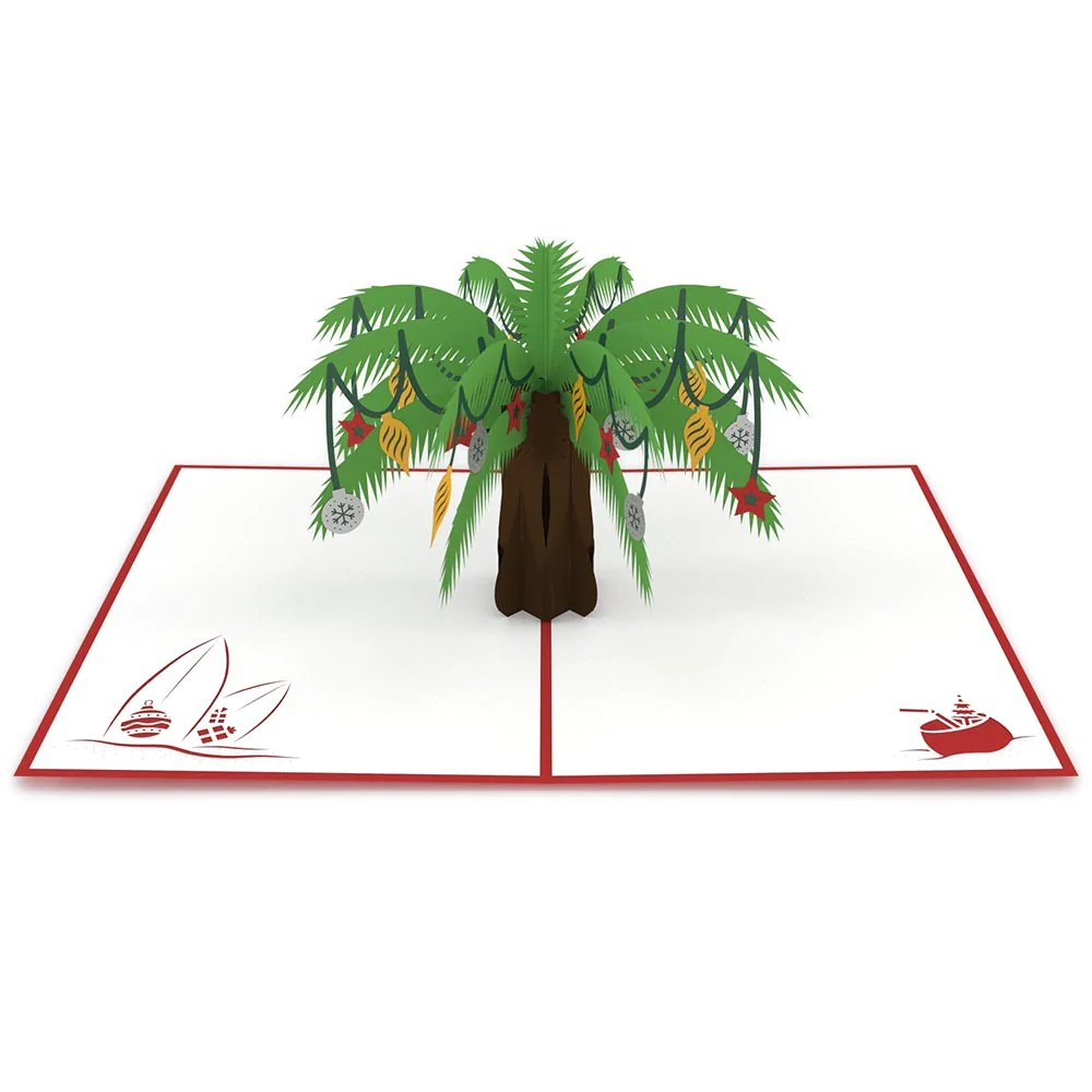 Festive Palm Tree Pop Up Christmas Card Lovepop