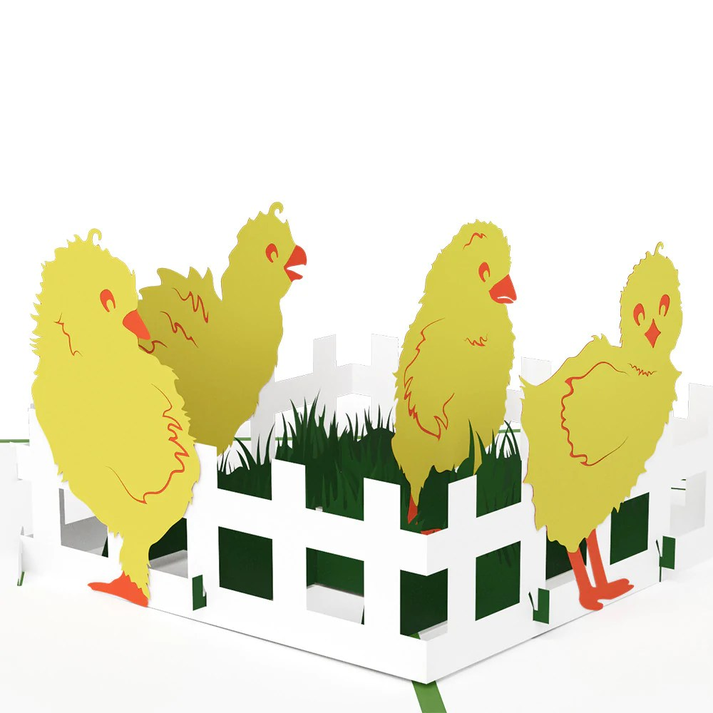 Baby Chicks Pop Up Easter Card Lovepop