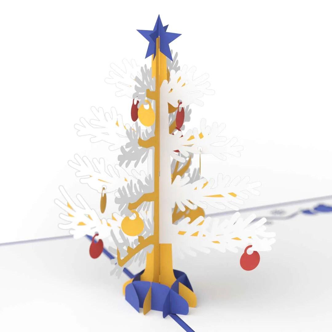 3D Christmas Tree Pop Up Holiday Card Blue Lovepop