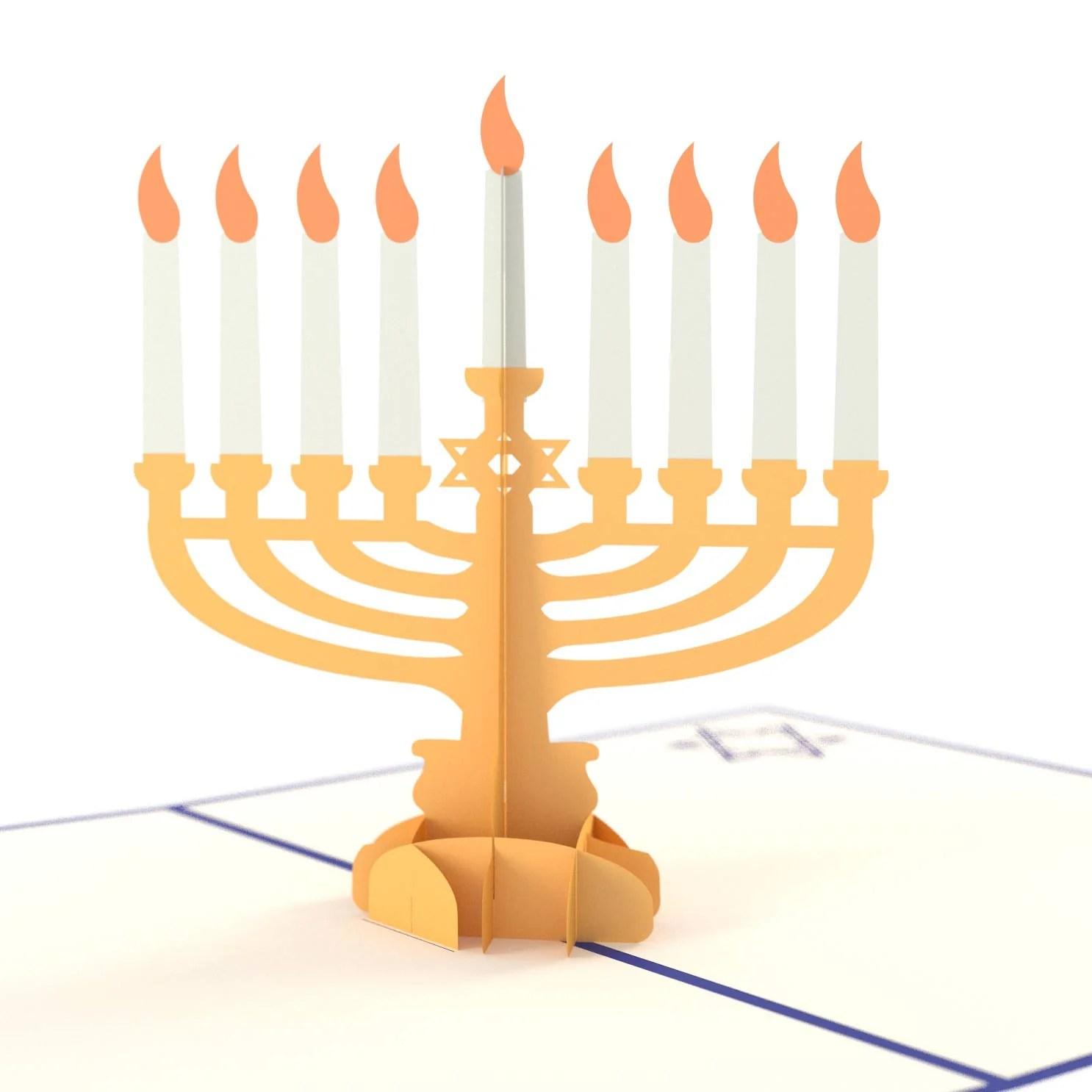 Hanukkah Menorah 3D Pop Up Card Lovepop