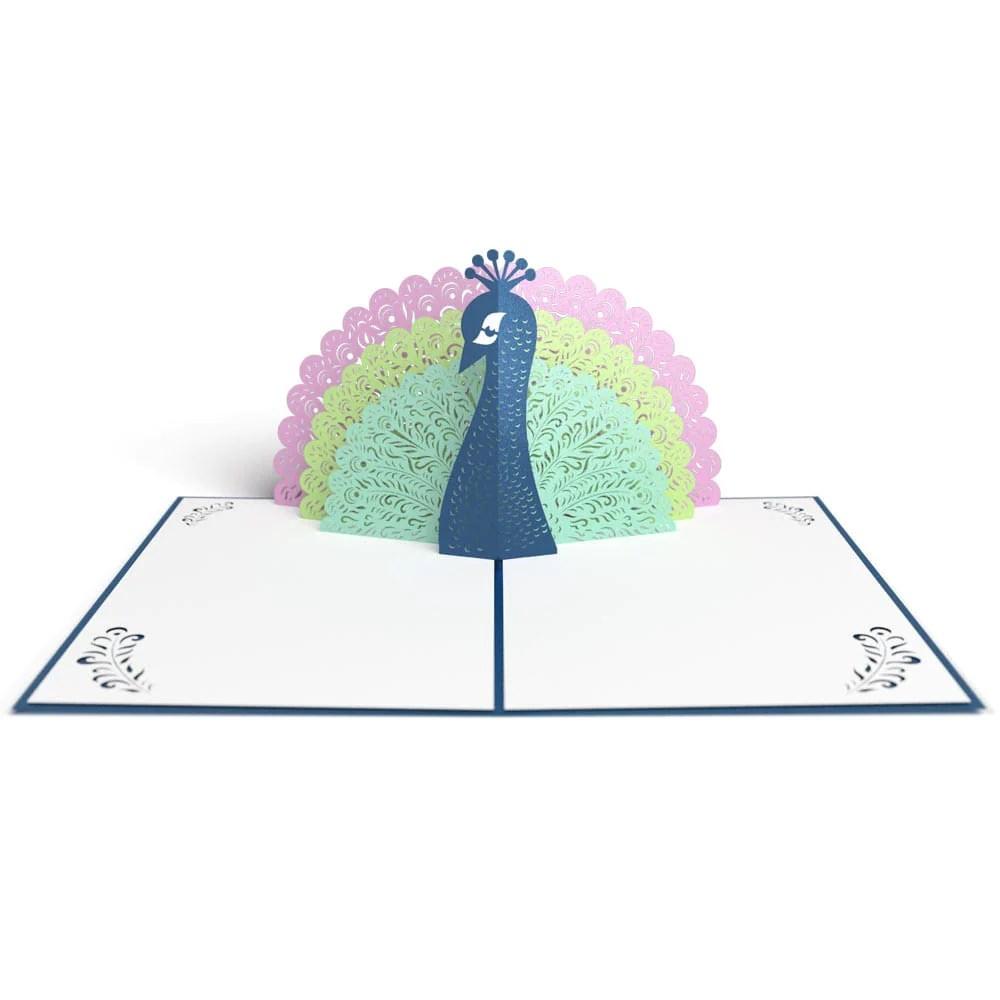 Peacock Pop Up Birthday Card Lovepop