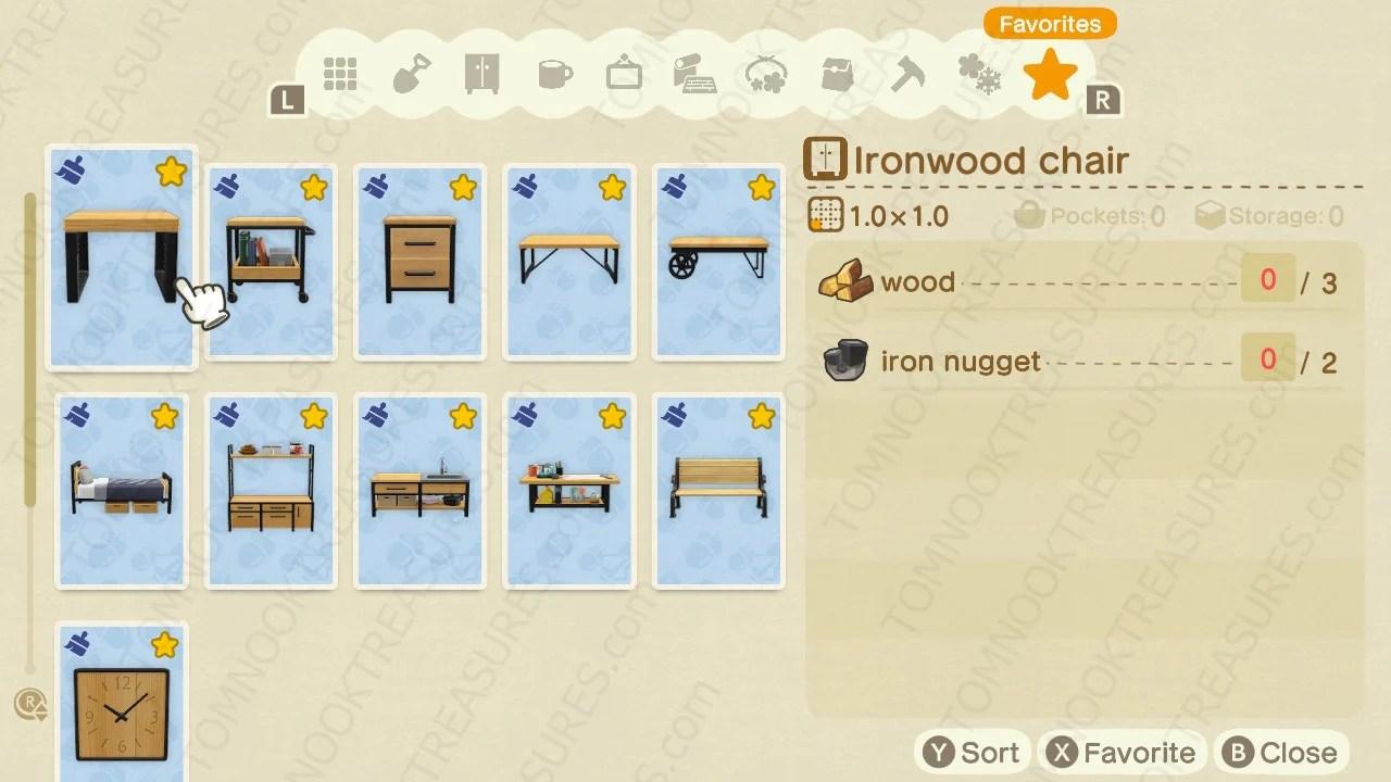 Buy All Ironwood DIY Recipes Animal Crossing - Nooks Treasures on Ironwood Kitchenette Animal Crossing  id=73080