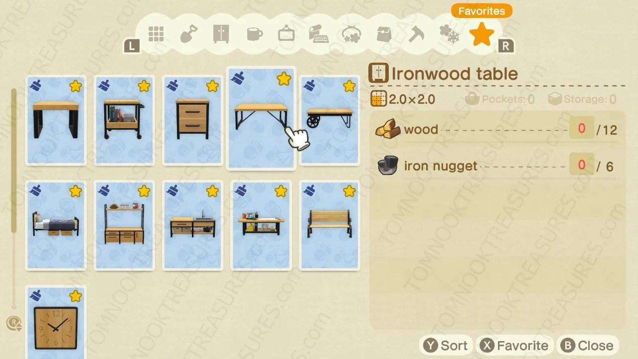 Buy All Ironwood DIY Recipes Animal Crossing - Nooks Treasures on Ironwood Kitchenette  id=73342