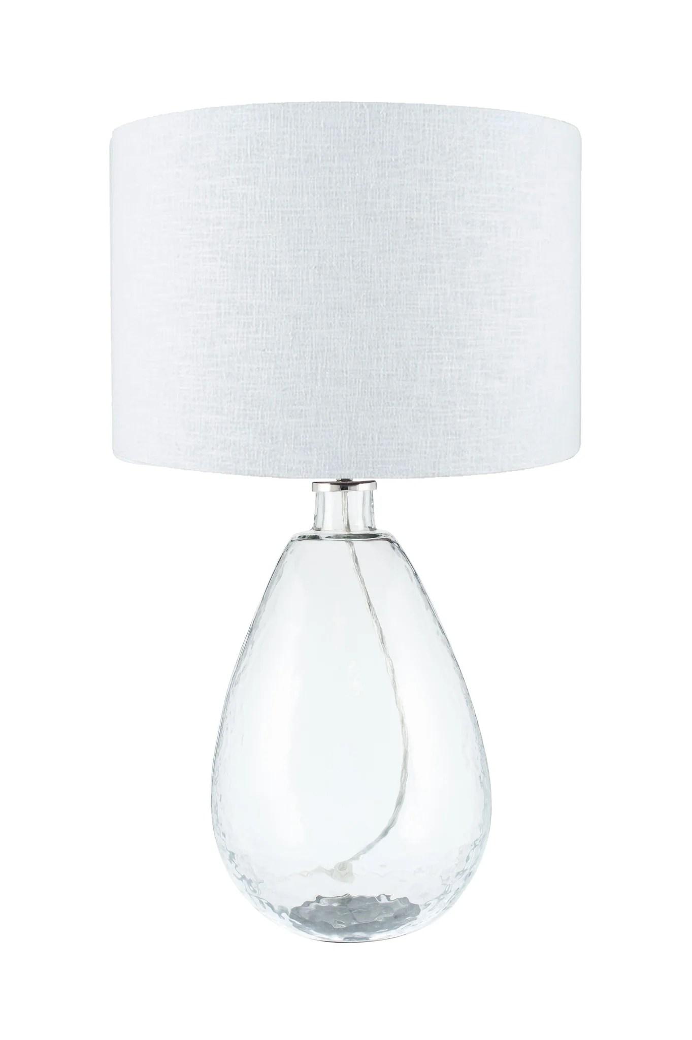 Benson Table Lamp Tall Clear Glass Raft Furniture