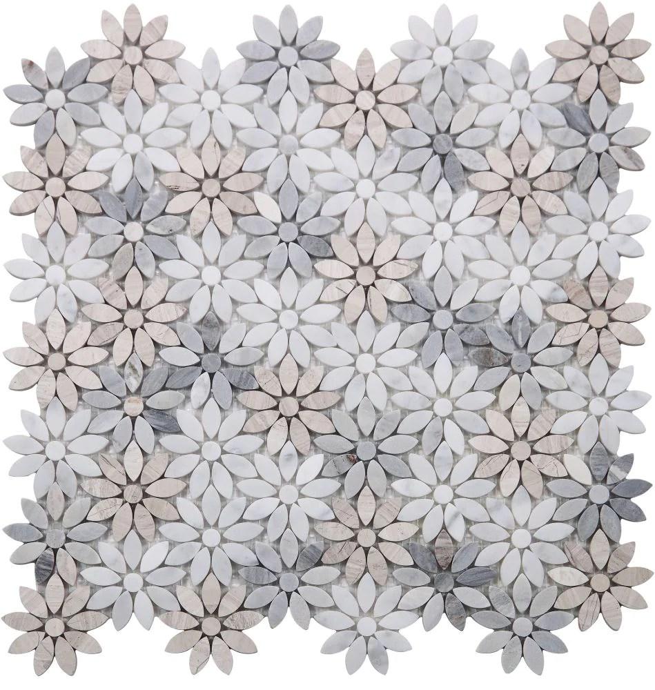 elysium tiles daisy wild sky 12 5 x 12 75 mosaic tile