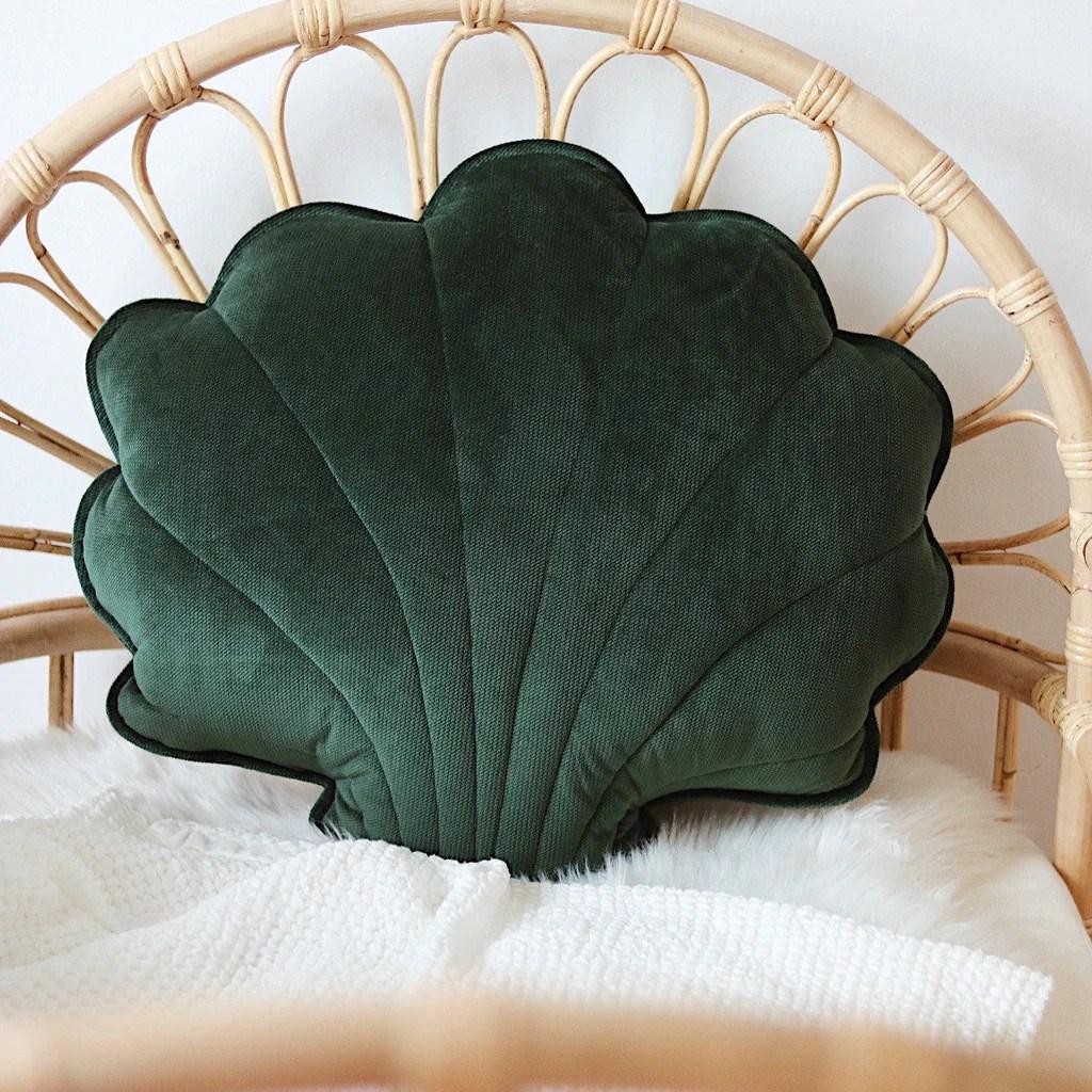 emerald big velvet shell cushion