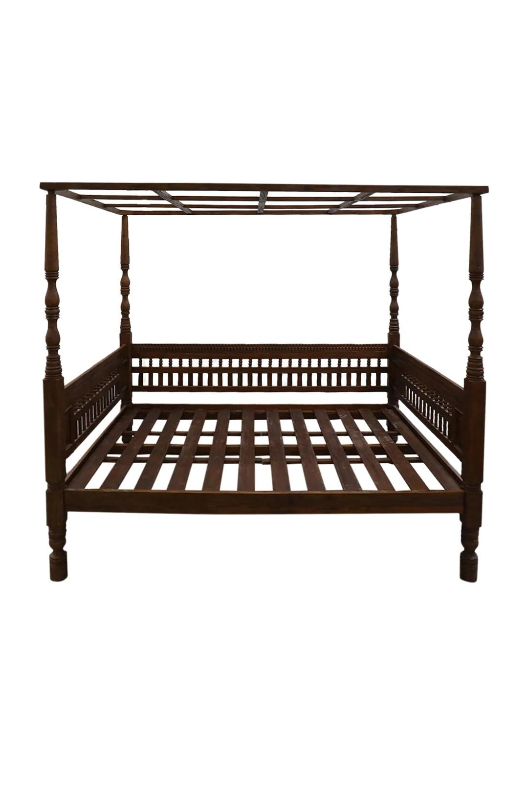 repro four poster cecilia queen bed furniture ishka