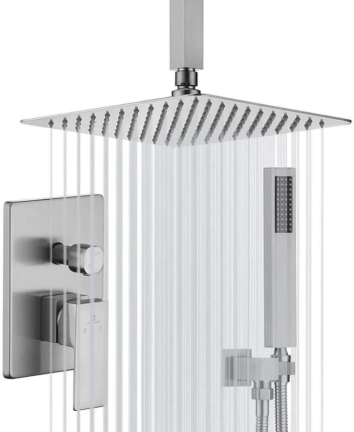 homelody brushed nickel shower faucet