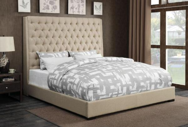 camille tan queen bed katy furniture