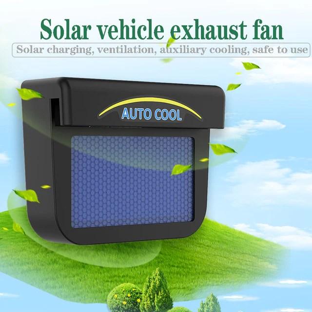 solar powered car ventilation fan