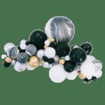 Black White Balloon Garland Bonjour Fete