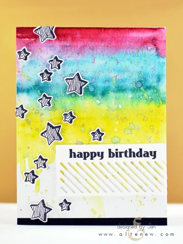 faux veneer card with distress markers 1