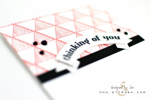 faux veneer card with coral-colored ink 2