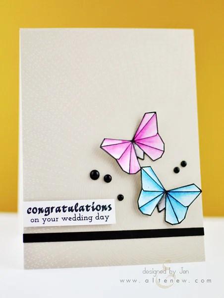ori kami butterfly card 1