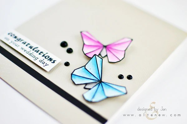 ori kami butterfly card 1