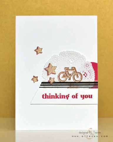 faux veneer card with bike and stars 1