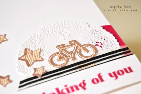 faux veneer card with bike and stars 2