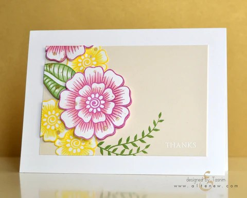 hennah elements card with copic 1
