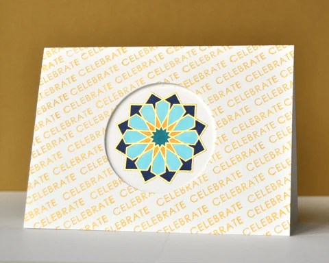 Dodecagram card