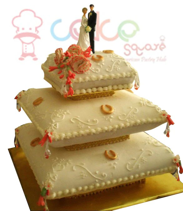 Pillow Beauty Couples     Cake Square Chennai CSDWD081  Pillow Beauty Couples