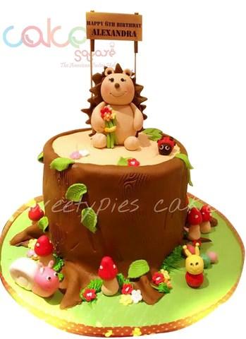 Odc144 Cute Baby Hedgehog Cake 1kg Designer Cakes Cake