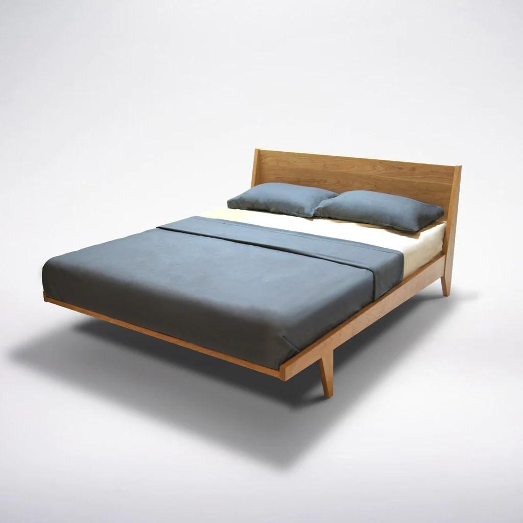 Modern One Platform Bed Handmade Mid Century Modern Bed