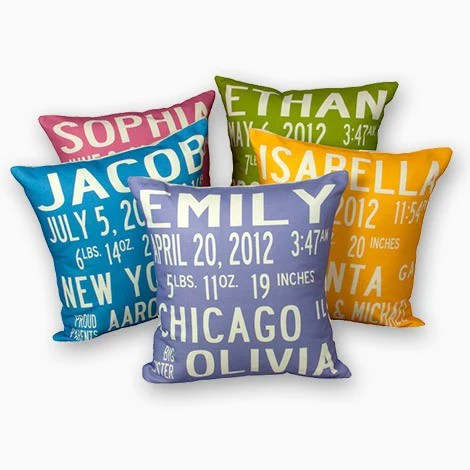 personalized birth announcement pillow always the children