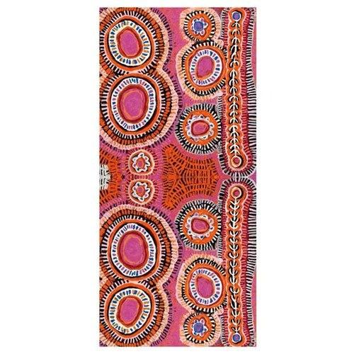 Australian Aboriginal Silk Scarf With Artwork By Alma