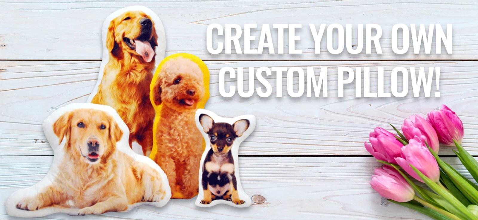 create your own pet pillow custom pet