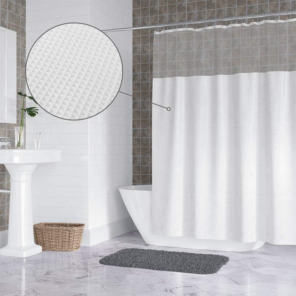 zozo waffle shower curtain white fabric shower curtain