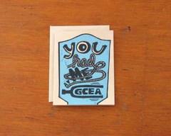 you had me at gcea ukulele greeting card