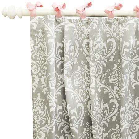 curtain panels gray hot pink damask wisteria