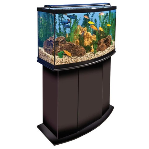 Top Fin Cocotree Amp Wooden House Bubbler Aquarium Ornament