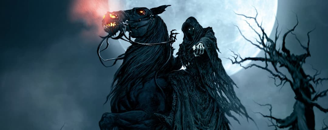 Grim Reaper on his Pale Horse