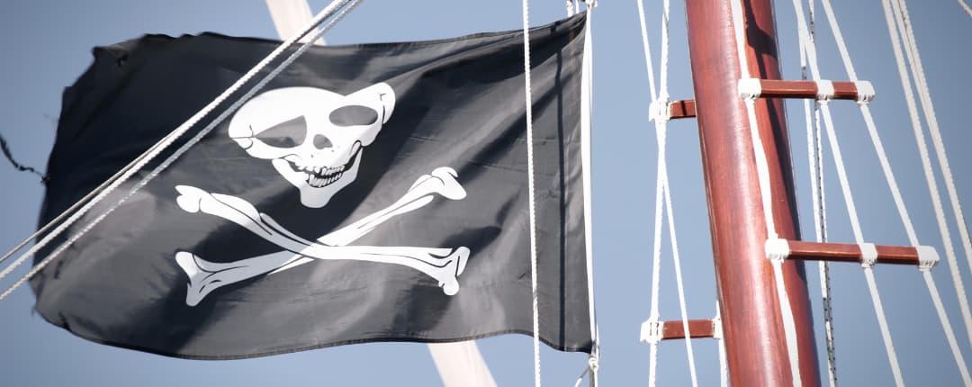 Pirate Flag on Mast
