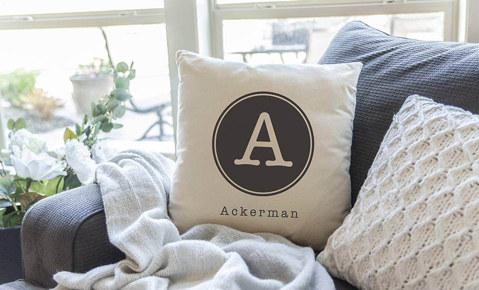 personalized monogram throw pillow covers