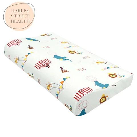 lifes a circus deepsleep children s organic cotton orthopedic memory foam pillow