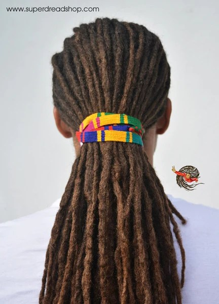 Multi Coloured Long Dreadlocks Hair Tie Super Dread Shop