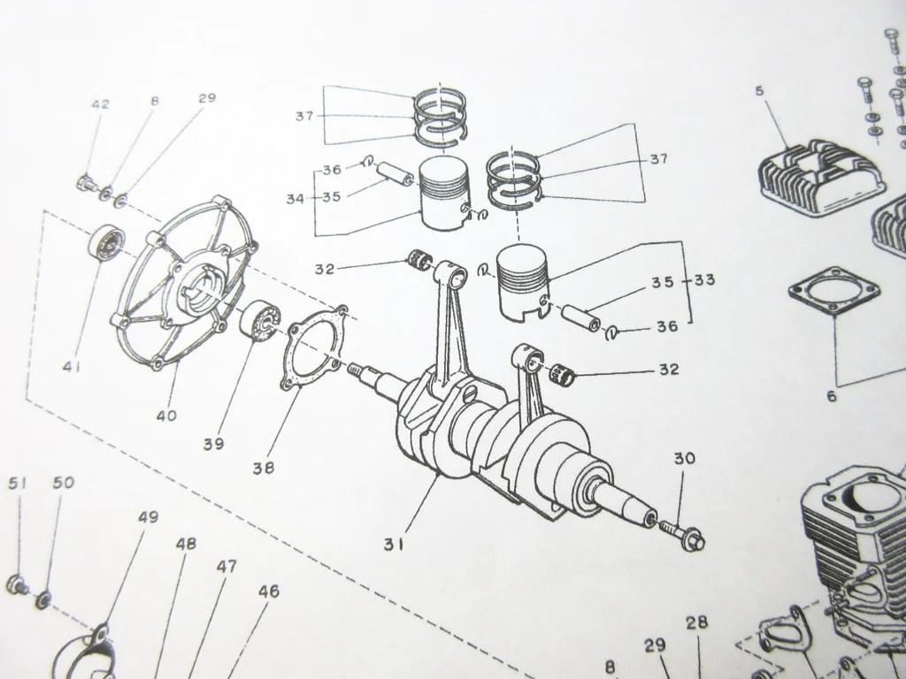 Fan cover bearing kit for subaru 360 sedan sambar van truck